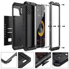 Métal En Aluminium coque de téléphone étanche pour iPhone XR X 6 6 S 7 8 Plus X Max Antichoc Résistants Antipoussière Housse De Luxe armure