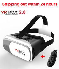 2016 Google cardboard VR BOX II 2.0 Version VR Virtual Reality 3D Glasses For 3.5 – 6.0 inch Smartphone+Bluetooth Controller 1.0