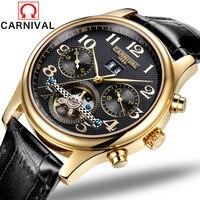 Relógio automático homem negócios relógio à prova dwaterproof água dos homens relógios de luxo multifunções relógio de pulso mecânico relogio masculino 2017