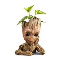 Guardians Of The Galaxy Flowerpot Baby Groot Action Figures Cute Model Toy Pen Pot Best Christmas