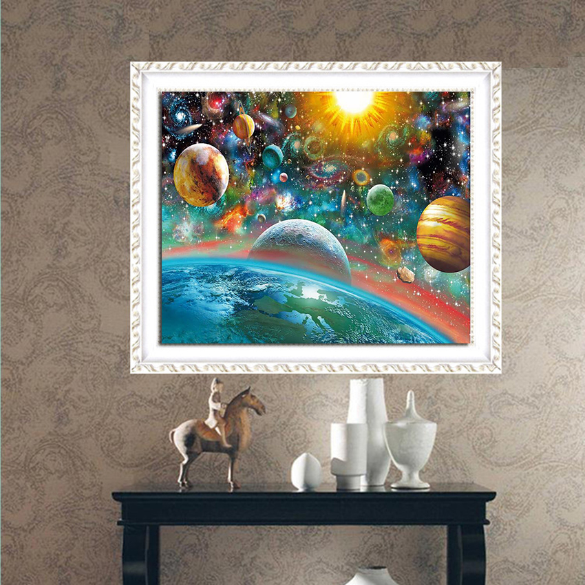 Outer Space Diamond: Full Round Diamond 5D DIY Diamond Painting Outer Space