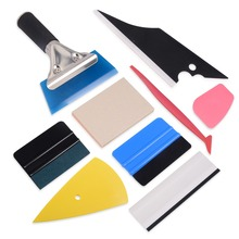 FOSHIO Carbon Fiber Vinyl Wrap Film Squeegee Scraper Car Stickers and Decals Styling Tools Kit Moto Wrapping Window Tint Tool carcardo 40cm x 200cm car headlight taillight tint vinyl film sticker car smoke fog light viny stickers decals car styling
