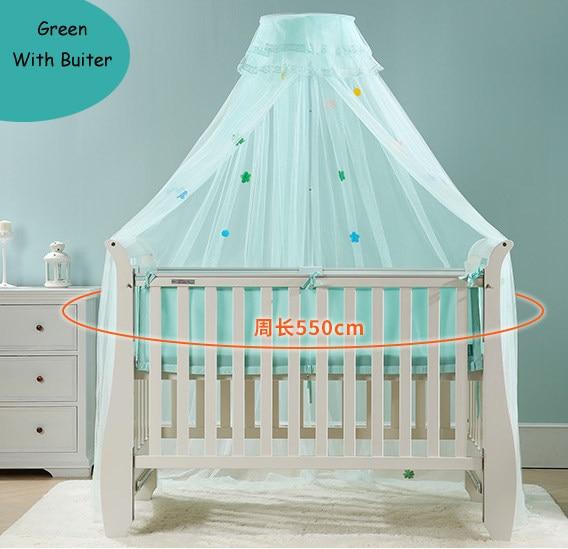 LuxuryBaby Toddler Infant Children Crib Mosquito Net Summer Baby Cot Bedding Door Type With Frame