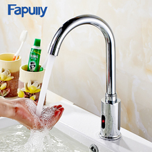 Fapully Chrome Bathroom Infrared Sense Water Taps Automatic Basin Sensor Faucets Hand Washer torneira de banheiro