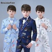 c657a19b06ade 2019 nouvelle enfants enfants noir blanc formelle garçons de mariage  smoking costumes garçon blazer costume mariages