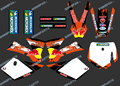 DST0251 New style Team 3M DECALS STICKERS Graphics Kits for KTM SX50 50CC 50 50SX FOR KTM50 2002 2003 2004 2005 2006 2007 2008