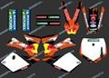 Dst0251 Новый стиль команда 3 м стикеры графика комплекты для KTM SX50 50CC 50 50SX для KTM50 2002 2003 2004 2005 2006 2007 2008