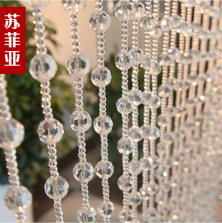 Freeshipping full wearing crystal bead curtains for hotel office or freeshipping full wearing crystal bead curtains for hotel office or home decor hanging door beads curtain christmas in curtains from home garden on teraionfo
