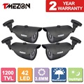 "Tmezon 4PCS 1200TVL 1/3"" CMOS 42Leds  Infrared Led Night Vision 100ft IR Cut Day Night CCTV Security Bullet Camera Outdoor"