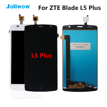 Tested!For ZTE Blade L5 plus LCD Display Touch Screen Digitizer Assembly Replacement Parts For ZTE Blade L5 Plus Screen white black for zte blade a310 lcd display touch screen digitizer assembly replacement free shipping order tracking