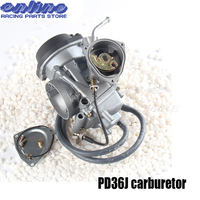 36mm PD36J Vacuum Carburetor case for kawasaki 400cc 1995 2010 universal other 300cc to 500cc racing motor UTV ATV