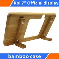 Raspberry Pi Official 7 Touchscreen Display Bamboo Case