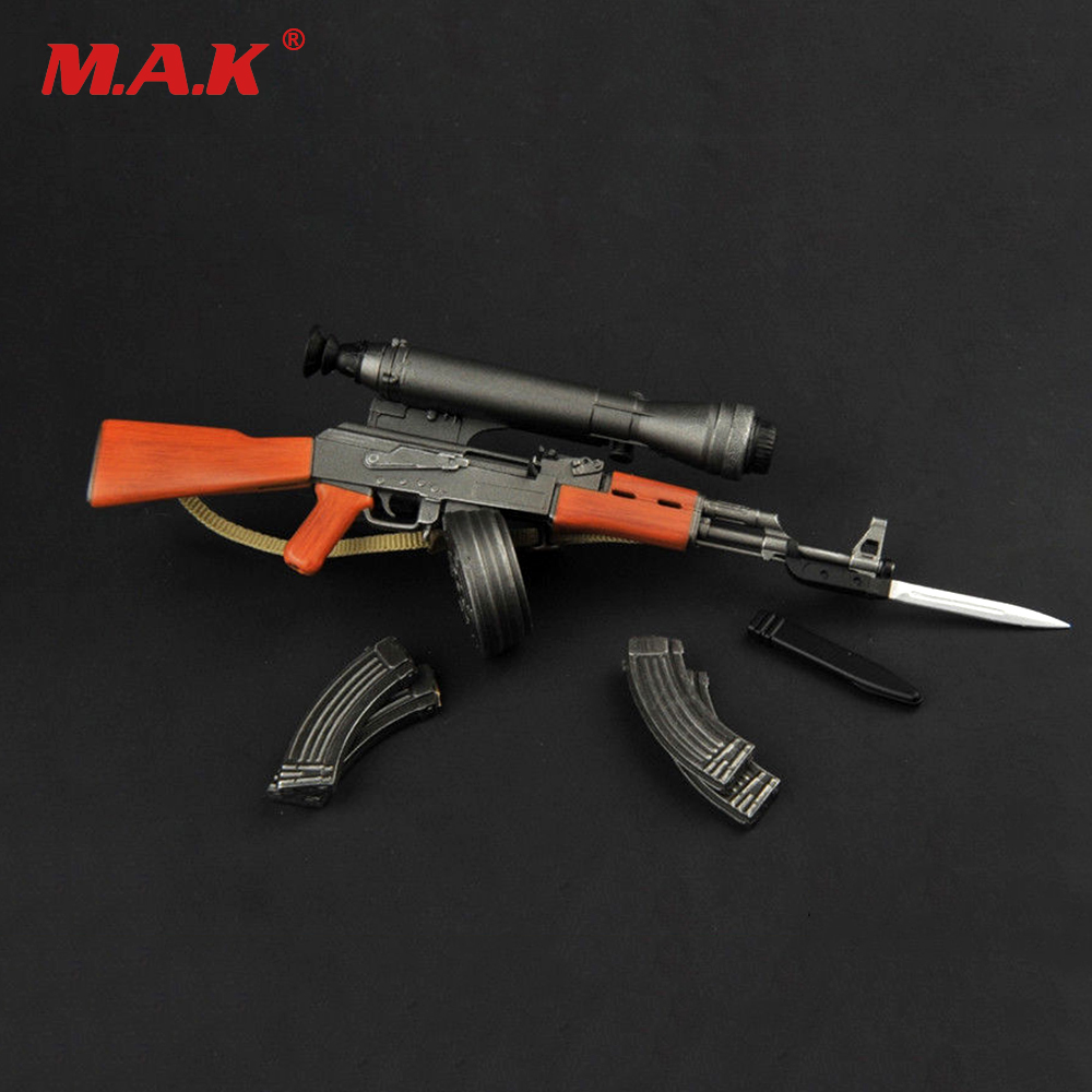 1:6 Scale TOYS ZY2007 1/6 Plastic Gun Model AK47 Weapon Toy with Knife model Accessories for 12 Action Figure Accessories 1 6 soldier action figure the dark zone agent renegad with weapon model accessories full set collections