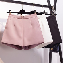 Summer Wide Leg Shorts Women Fashion Pink Suit High Waist Shorts Elegant Short Femme Trousers Women Office Ladies Shorts C4460