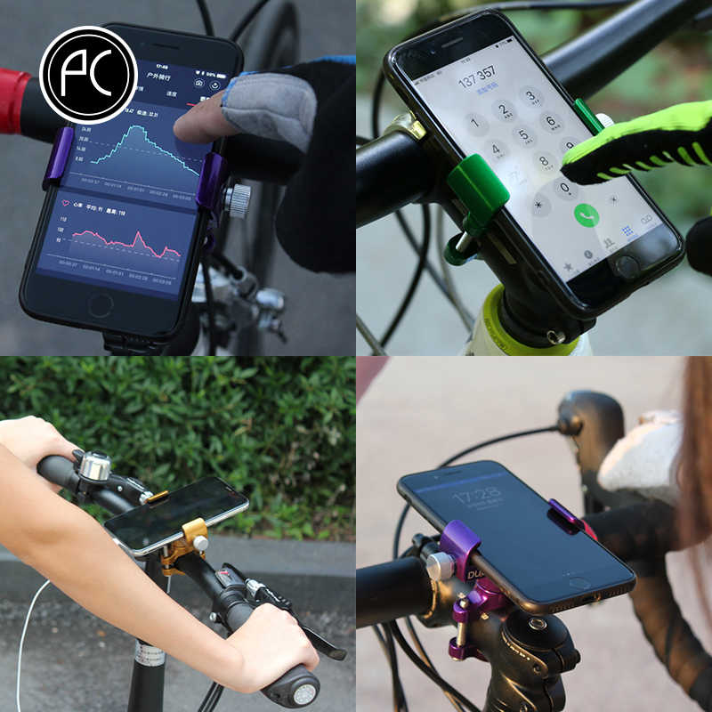 PCycling Phone Holder Aluminum Alloy 360 Degree Rotation For Smartphone Adjustable Support GPS Bike Phone Stand Mount Bracket