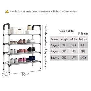 Image 3 - Porte chaussures support organisateur, 3/4/5 étages, meuble à assembler, meuble de salon