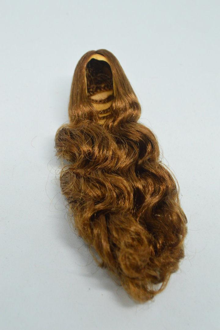 Lego 1 Hair Wig For Female Girl Minifigure Figure  Long Wavy Brown