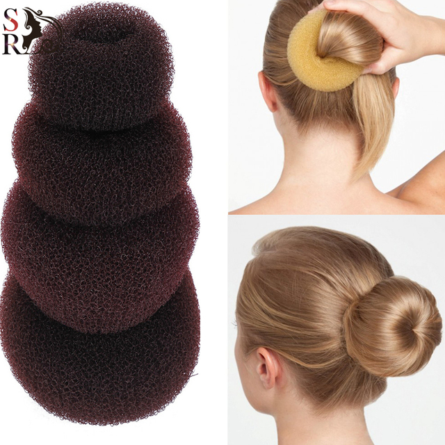 1pc Plate Hair Donut Bun Heart Maker Magic Foam Sponge Styling Tool Princess Hairstyle
