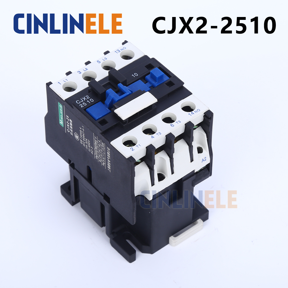 Contactor CJX2-2510 25A switches LC1 AC contactor voltage 380V 220V 110V Use with float switch cjx2 lc1 1210 25a 220v 660v ac contactor black white