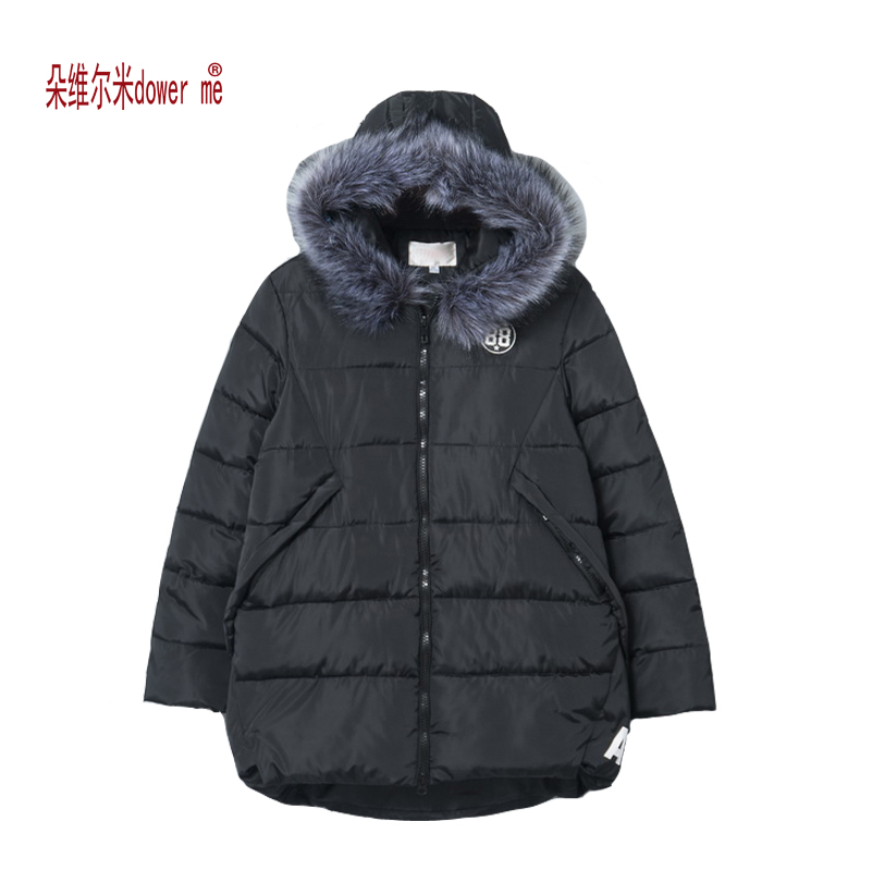 dower me Winter Female Jacket 2017 Winter Coat Women Fur Collar Warm Woman Parka Outerwear Down jacket Winter Jacket Female Coat winter jacket coat women 2017 new brand solid casual faux fur collar zipper female jacket hot sale coat female gd280