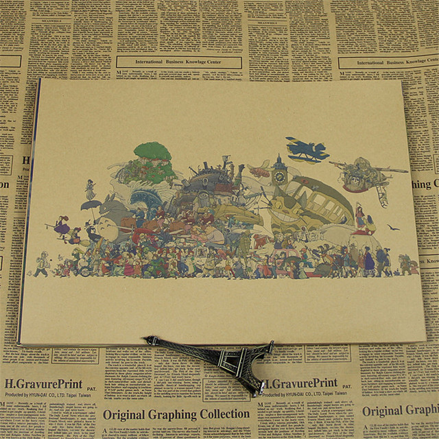 vintage kraft paper home decor wall art craft sticker\