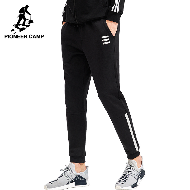 Clothing Sweatpants-Trousers Casual-Pants Joggers Men Black Pioneer Camp Grey Male Dark-Blue title=