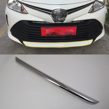 Car body kits ABS chrome front up bar trim Sticker For TOYOTA VIOS 2017