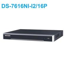 DS-7616NI-I2/16P English version 16ch NVR with 2SATA and 16 POE ports, HDMI VGA plug & play NVR POE 16ch VCA H.265