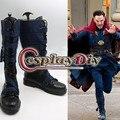 CospalyDiy hombres Botas Doctor Strange Avenger Dr. Steven Vincent Extraño Zapatos Botas de Cosplay Accesorios