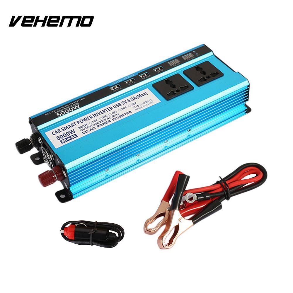 цена на Vehemo Power Inverter Car Converter Car Inverter 5000W Peak DC24V To AC220V High Performance Outdoor Adapter Vehicle Charger