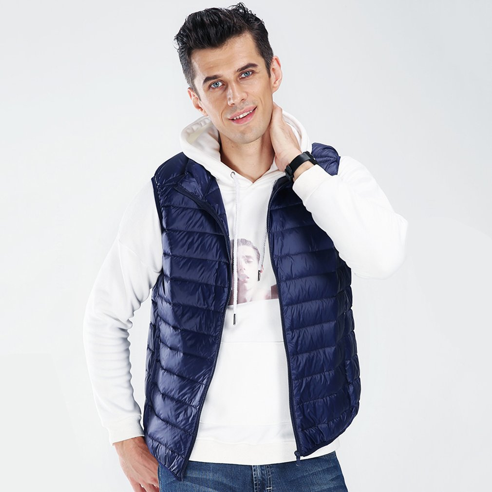 White Duck   Down   Padding Men's Autumn Winter Bomber Jacket Casual Warm Outerwear   Coats   Canada Plus Size 3XL Male   Coats