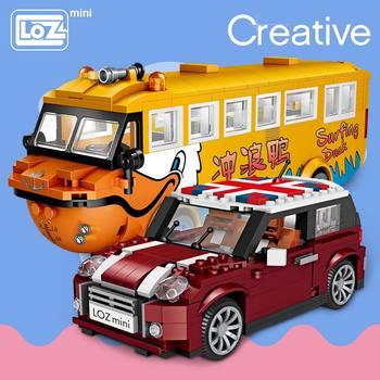 LOZ Mini bloques modelo de coche bloques de construcción creador técnico Racing coche montaje juguetes para niños regalos educativos DIY ladrillos diversión