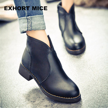 Sexy Women Ankle Boots 2017 Casual Platform Shoes Woman Sexy High Heels Slip On Fashion Autumn