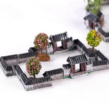 1pc Ancient Gate Wall Resin Miniatures Micro Landscape Ornaments Retro Figurines Mini Old City Gate Doll House DIY Craft цена 2017