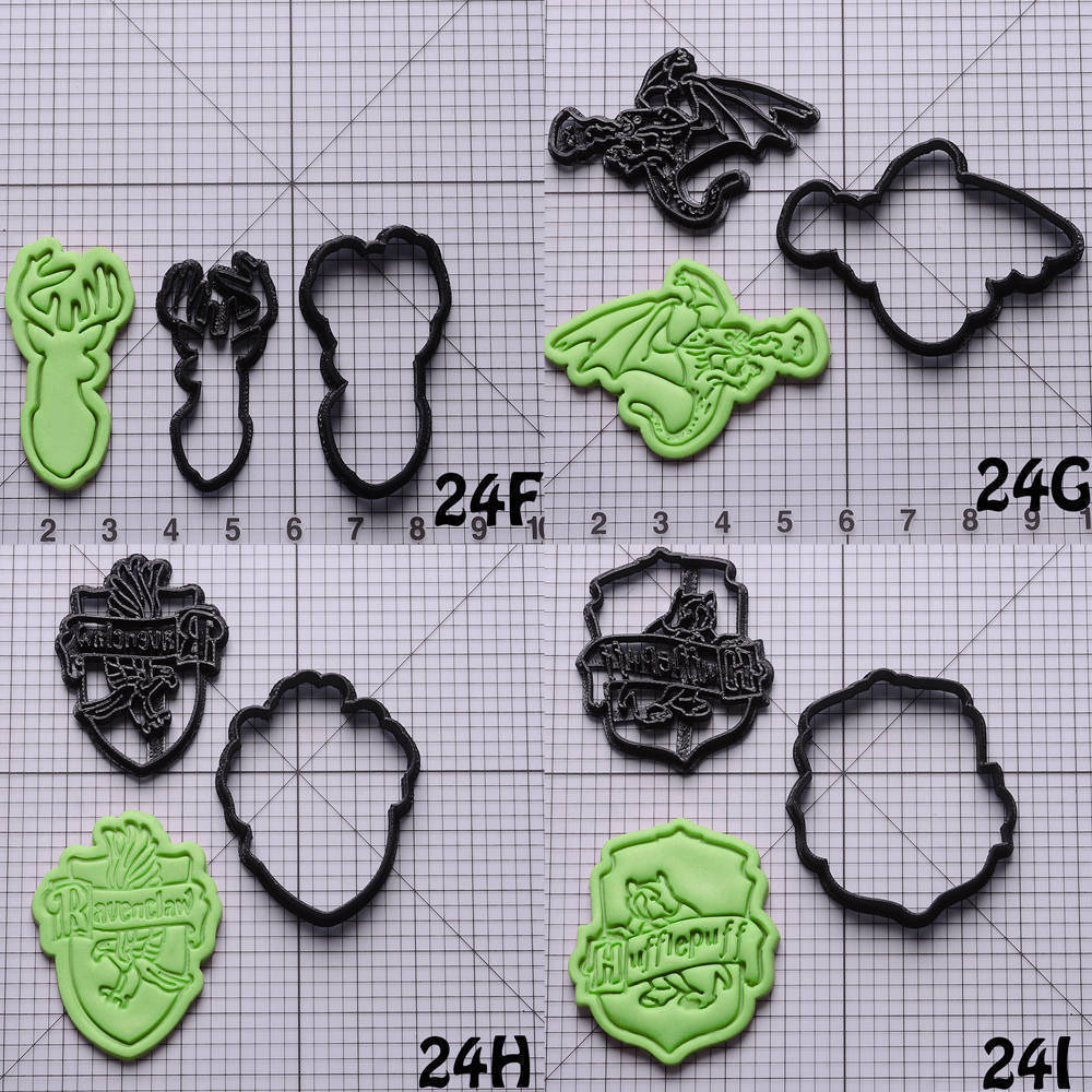 Harry potter series shape cookie cutter set custom made 3d for 3d printer cake decoration