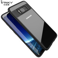 IPAKY For Samsung Galaxy S8 Plus S8 Case Capa TPU Frame Clear Acrylic Back Phone Cover