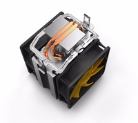 Pccooler S90D cpu cooler double 9cm quiet fan 2 copper heatpipes cpu cooling radiator fan for AMD AM2/AM3 Intel 775 115x