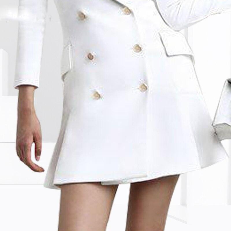 Solide Courte Nouvelle Blanche down Col Robe Sexy Moulante Travail White Printemps D'été Bureau Robes Causalité De Z321 Femmes Turn w0vHp