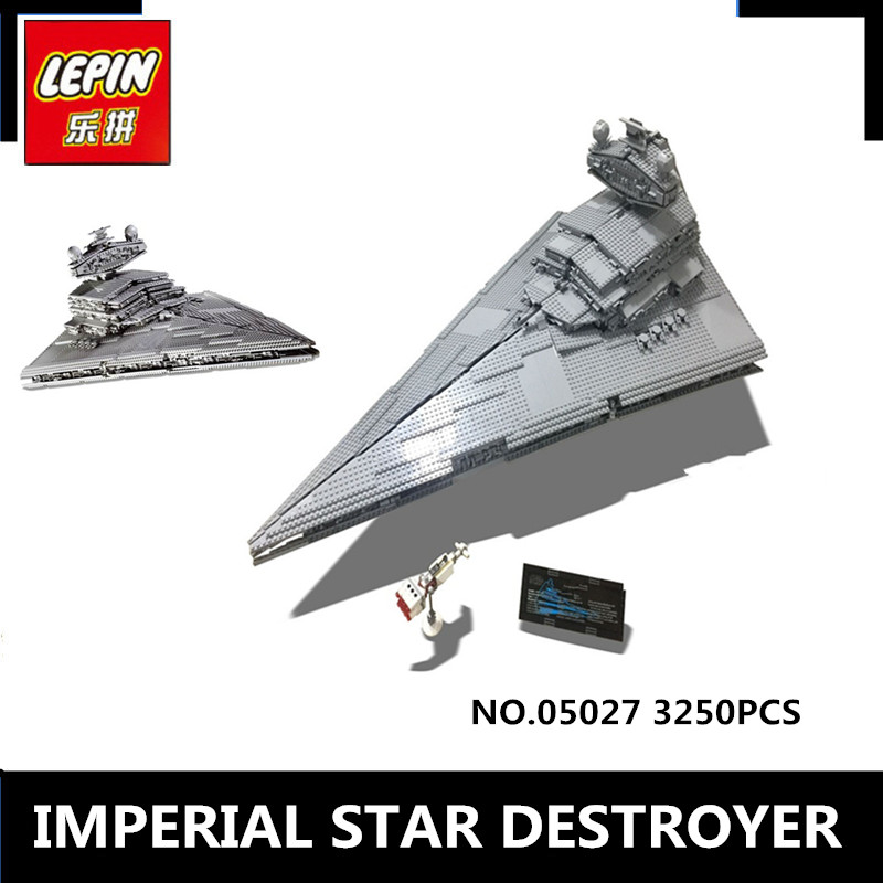New LEPIN 05027 3250 Pcs Star Wars Emperor Fighters Star Ship Model Building Kit Block Bricks Toy Compatible with 10030 Boy Gift lepin 16002 pirate ship metal beard s sea cow model building kit block 2791pcs bricks compatible with legoe caribbean 70810