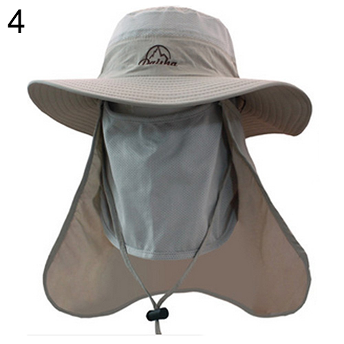 Outdoor Sunscreen Fishing Hiking Sun-resistant Breathable Long Face Neck Cover Flap Hat Anti Uv Cap Headband Rain Sunhat