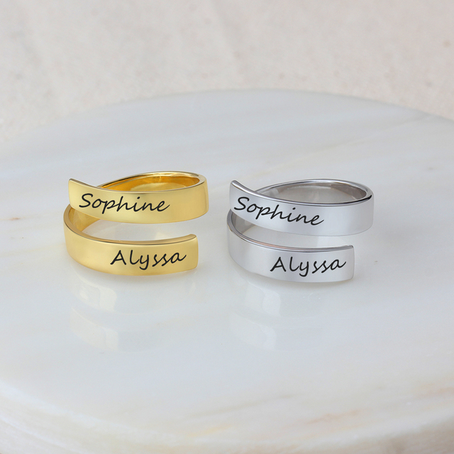 Personalized Stainless Steel Adjustable Ring 4