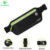 FLOVEME 6.5'' Big Capacity Universal Waist Waterproof Pouch Phone Bag Cases For iPhone X 8 7 6 Plus Sport Packs + Headset Hole
