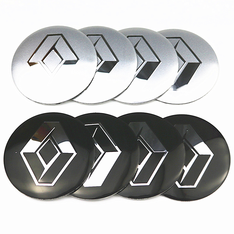 4pcs/lot 56.5mm Car Rim Cover Decal Wheel Center Hub Cap Sticker For Renault Wheel Clio Megane Laguna Scenic TwinGo Emblem Badge