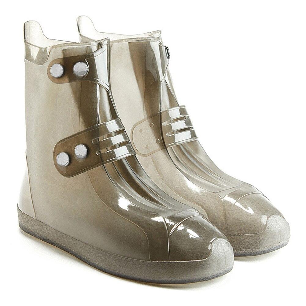 Schuhüberzug Unisex Wasserdicht Regen Schuh Abdeckungen Zweireiher Dauerhafte Nahtlose Wiederverwendbare Niedrigen Stiefel Anti-slip Outdoor Überschuhe Verdicken Verpackung Der Nominierten Marke Schuhe