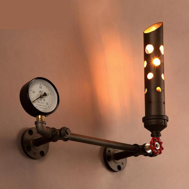 Novelty Chimney Bar Cafe lighting Novelty water pipe Wall lamp sconce dining Restaurant Corridor industrial Wall light Abajur