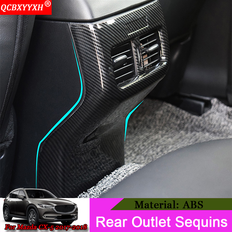 QCBXYYXH Car-styling Car Modification Rear Air Outlet Of The Air Conditioner Sequins Auto Accessories For Mazda CX-5 2017 2018