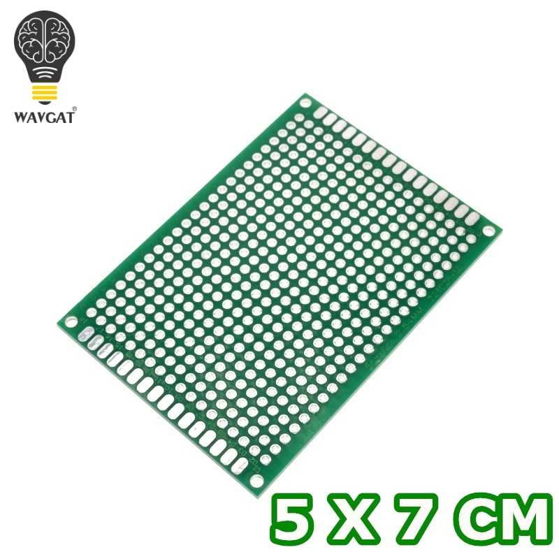 WAVGAT 5*7 PCB 5x7 PCB 5 cm 7 cm Double face Prototype PCB bricolage carte électronique universelle.