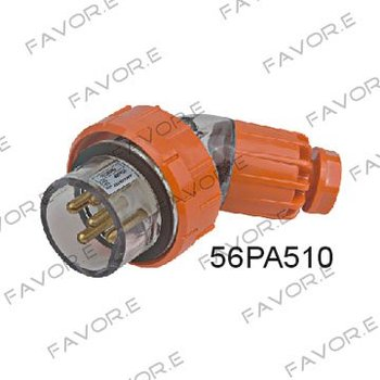 *10A 3 phase 5pin water proof angled male plug switchgear IP66 56PA510