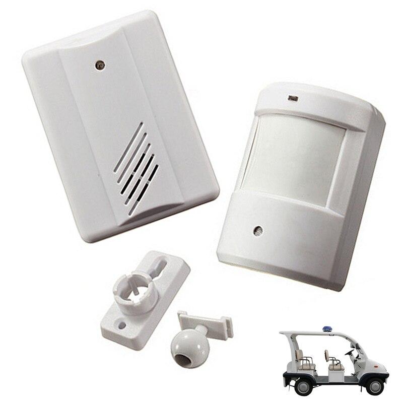Bezprzewodowy alarm na podczerwień dzwonek do drzwi podjazd Patrol garaż bezprzewodowy dzwonek na podczerwień System alarmowy czujnik ruchu