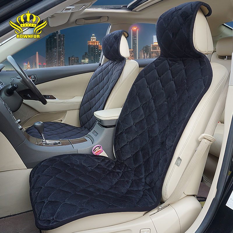 2018 New 2pc Plush Car Seat Cover,colours Gray,black,Brown,Yellow,Red,Material High Quality Velvet,Universal Size,for Car Bmw F3